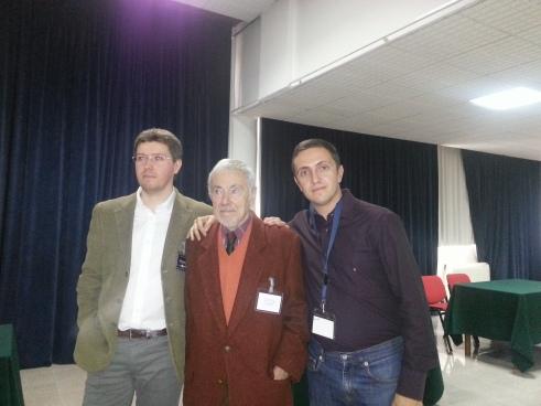 da destra: io, Gaspare de Lama (protagonista del caso amicizia) e Ivan Ceci